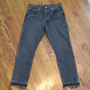 Levi's Wedgie Fit Straight Distressed Ankle Jeans